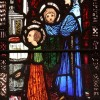 Detail from St. Jarlath's stained-glass window by Harry Clarke