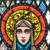 St. Brigid - Harry Clarke's stained-glass window at St. Mary's Church, Ballinrobe, County Mayo