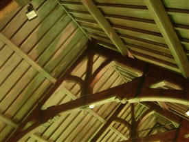 Photo:Hammer beam roof of St. Marys.