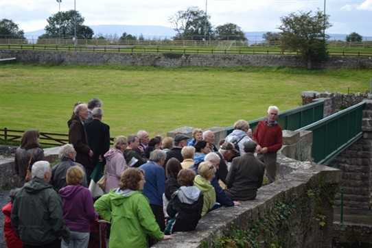 Photo:Mr. Tom Tiernan who spontaneously contributed extra information on his work on the Bower's Walk.