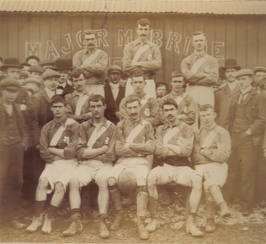 Photo:Ballinrobe Major Mc Bride Football Club, pictured in 1901.