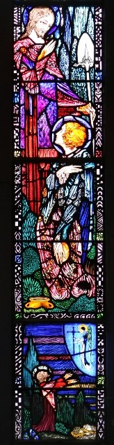 Photo: Illustrative image for the 'Apparition of Jesus to Mary Magdalene - Harry Clarke Stained-glass window' page