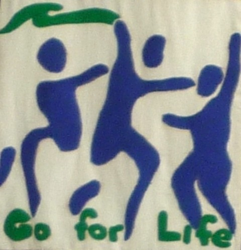 "Photo:""Go for Life"" logo"