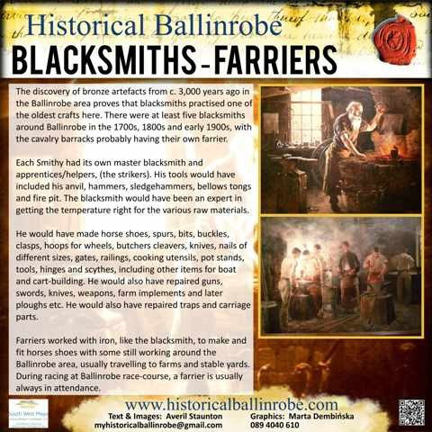 Photo: Illustrative image for the 'The Blacksmith/Farrier' page