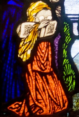 Photo: Illustrative image for the 'Now available on video, the story of St. Fechín and Harry Clarke's design for the panel at St. Mary's in Ballinrobe' page