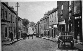 Photo:Bridge Street, Ballinrobe, Co. Mayo c late 1800s