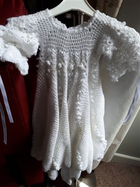 Photo:Beautiful crochet Christening Robe by Kay