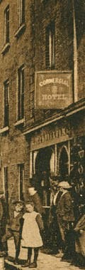 Photo:Detail from a postcard of Commercial Hotel c 1895
