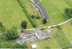 Photo:Aerial image of Creagh House and the chalet wards at top of image