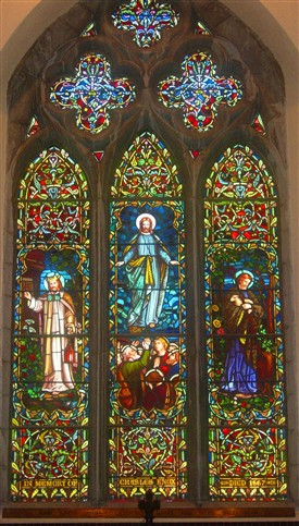Photo:Memorial stained-glass window commemorates Colonel Charles Knox of Cranmore.