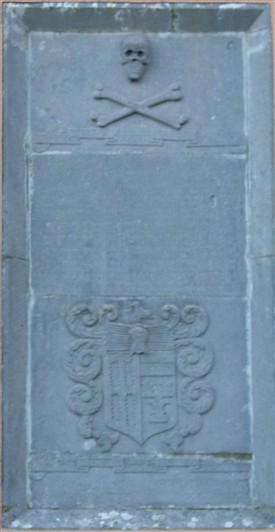 Photo:Katherine Holcroft's 1668 Memorial on exterior of Church