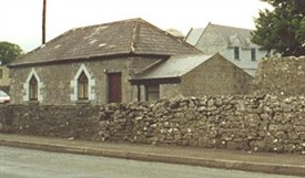 Photo:The cut-stone Dispensary building which was a later addition to the Workhouse complex.
