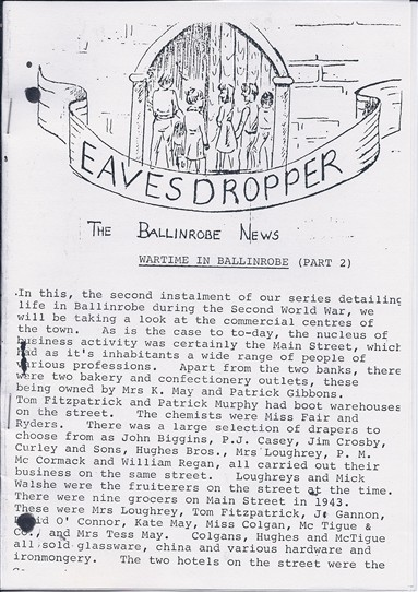 Photo: Illustrative image for the 'Eavesdropper - Ballinrobe Magazine c 1988' page