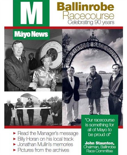 Photo:Page from the Mayo News, 2011 celebrating 90 years of the Course