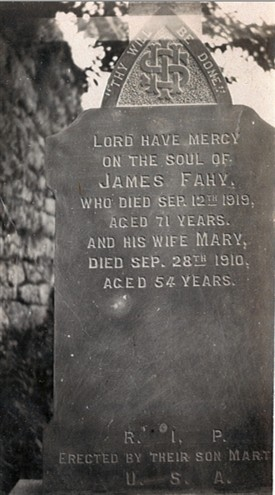 Photo:James & Mary Fahy gravestone