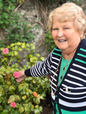 Photo:Kay Tracey in her garden