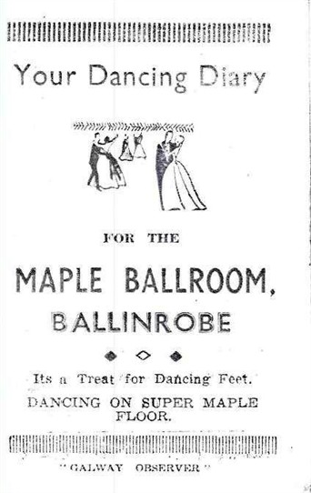 Photo: Illustrative image for the 'Ballinrobe's Maple Ballroom Dancing Diary - 1960' page
