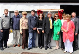 Photo:L to R Mr. Niall O'Dowd, Mr. Martin Jennings, Peggy (Maureen's sister) Councillor Damian Ryan, Ms. Mary Coyne, Cllr. Michael Burke, Ms. Maureen Dowd, Ms. Ann Reid, Averil Staunton, Mr. Gerry Delaney.