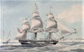 Photo:The Lady Kennaway - a 3 mast sailing ship
