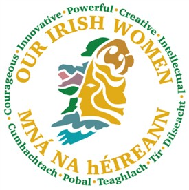 Photo:Our Irish Women project logo, final design by Damien Goodfellow National Museum of Ireland.