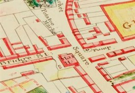 Photo:Detail from  Knox 1832 map with pump marked