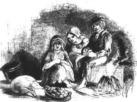 Photo:A skib of potatoes during the famine years