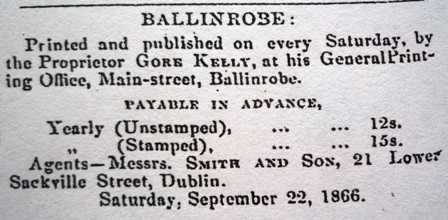 Photo: Illustrative image for the 'Ballinrobe Chronicle advertisments' page