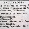 Page link: The Kellys of the Ballinrobe Chronicle