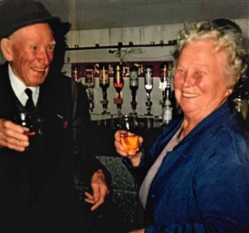 Photo:Mina and Paddy Flannery of Flannery's Bar in Cornmarket (Michael Flannery's father).