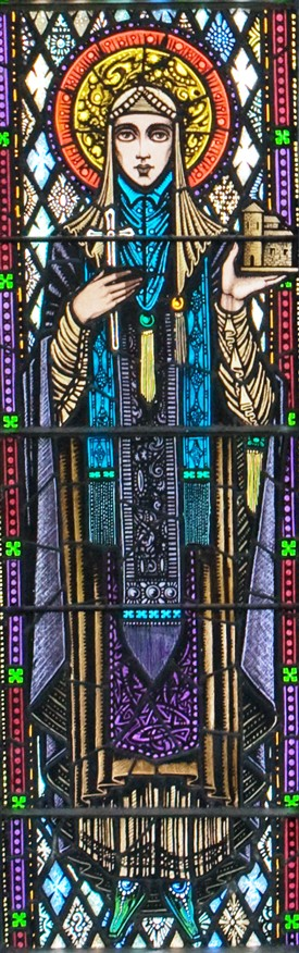 Photo:St. Brigid at St. Mary's Church, Ballinrobe, Co. Mayo by Harry Clarke