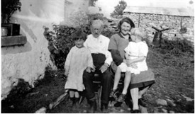 Photo:Thomas Casey c 1935 with daughter and grandaughter, Miss Butler