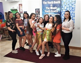 Photo:Members of the Ballinrobe Traveller Girls Group at the Maple Youth Centre