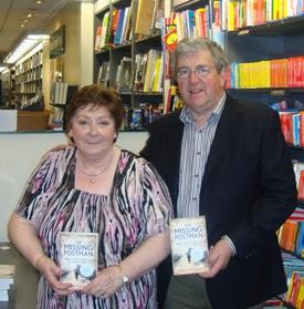 Photo:Marie Finnerty from Ballinrobe and Seamus Mulrennan from Ballyhaunis, grand-children of Larry Griffin are pictured at the launch of 'The Missing Postman' book in Dublin recently.