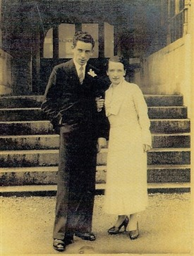 Photo:Peter & Mary Ryder on their wedding day 22nd April, 1935