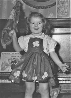 Photo:Maureen as a young girl in her shamrock dress