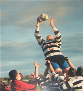 Photo:Biggins family rugby player