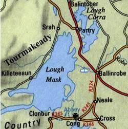 Photo:Tourmakeady is directly across Lough Mask from Ballinrobe, Co. Mayo