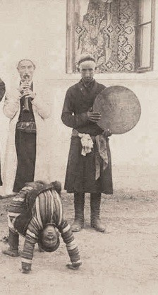 Photo:A Street Tumbler somewhere n Middle East c 1905